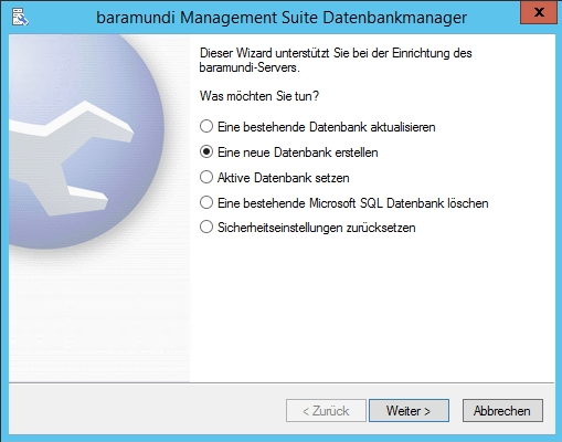 Baramundi Management Suite - Datenbankmanager