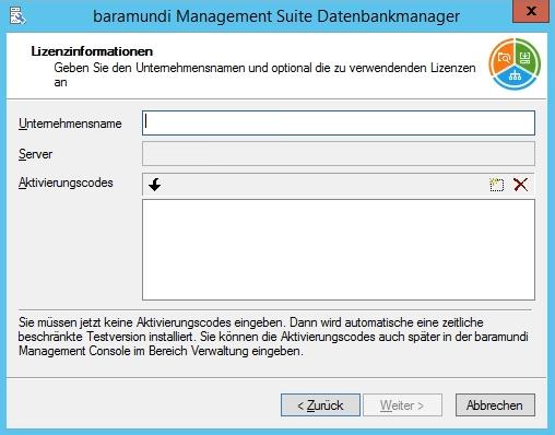 Baramundi Management Suite - Lizenz hinzufügen