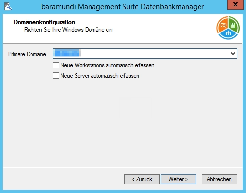 Baramundi Management Suite - Domänenkonfiguration