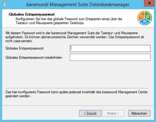 Baramundi Management Suite - Globales Entsperrpasswort