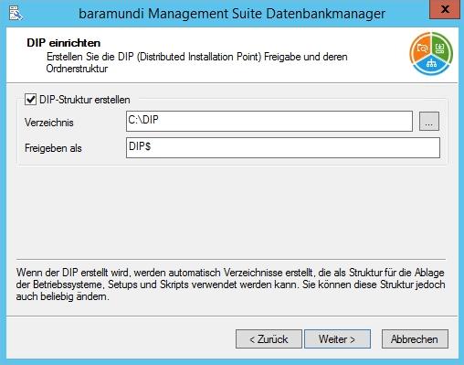 Baramundi Management Suite - DIP einrichten