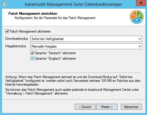 Baramundi Management Suite - Patchmanagement einrichten