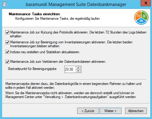 Baramundi Management Suite - Maintenance Task einrichten