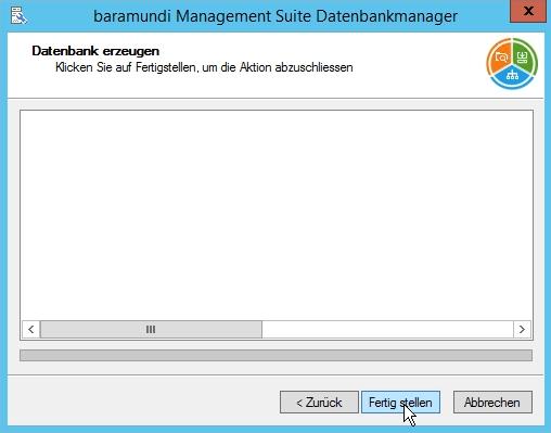Baramundi Management Suite - Datenbank Einrichtung durchführen