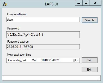 Microsoft LAPS GUI
