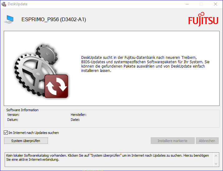 Fujitsu Deskupdate GUI