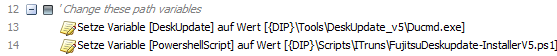 baramundi Deploy Script - Variablen