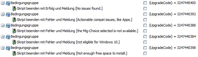 baramundi Deploy Script - Windows 10 Upgrade Check Rückmeldung überprüfen