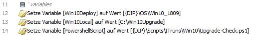 baramundi Deploy Script - Windows 10 1809 Upgrade Check