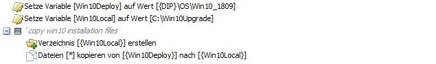 baramundi Deploy Script - Windows 10 Installationsdateien kopieren